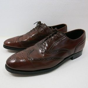 Dexter Brown Leather Brogue Wingtip Oxfords 11 M
